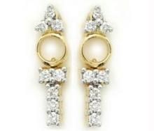 Avsar,Ag,Lime,Kalazone,Clovia Diamond Jewellery - Avsar Real Gold and Diamond Dangling Earring