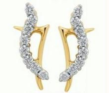 avsar,ag,lime,kalazone,shonaya Diamond Earrings - Avsar Real Gold and Diamond Fancy Earring AVE054