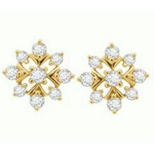 Avsar Real Gold And Diamond Fancy Square Earring