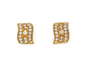 Kalazone,Flora,Vipul,Avsar,Tng,Mahi Diamond Jewellery - Avsar Real Gold & Diamond Traditional Earring