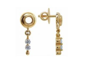 Avsar Real Gold And Diamond Fancy Dangling Earring