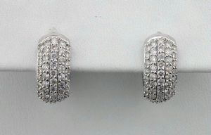 Avsar Real Diamond Bali Shape Earrings