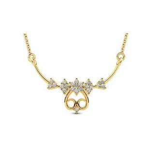 Avsar Real Gold And Diamond Mangalsutra Avn079