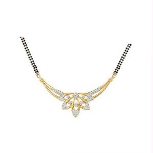 Avsar Real Gold And Diamond Mangalsutra Avn080