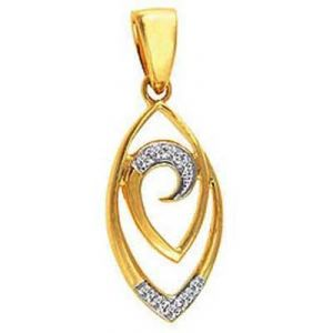 Avsar Real Gold And Diamond Pendant Avp0103
