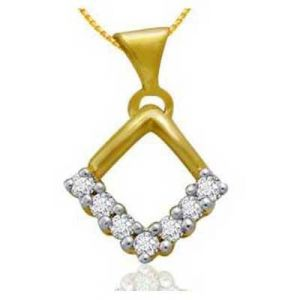 Fancy Triangular Shape Diamond Pendant Avp0135