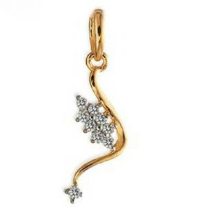 Full Dangling Flower Bead Diamond Pendant Avp0140