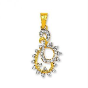 Avsar Real Gold And Diamond Classic Pendant Avp146