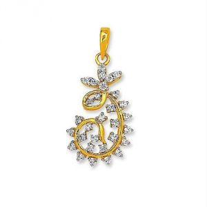 Avsar Real Gold And Diamond Fantasy Pendant Avp147