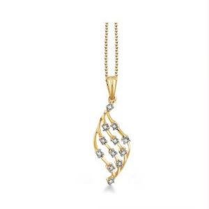 Avsar Realgold And Diamondbeautiful Pendant Avp153