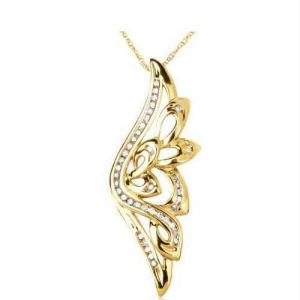 Avsar Real Gold And Diamond Elegant Pendant Avp156