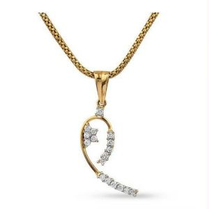 Arpera,Tng,Sangini,Avsar Women's Clothing - Avsar Real Gold and Half Heart PENDANT AVP163