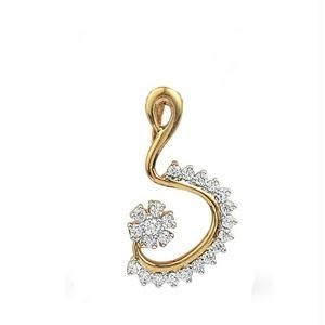 Avsar Real Gold And Diamond Pendant Avp166