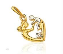 Avsar Real Gold And Diamond Mother & Son Pendant. Avp018