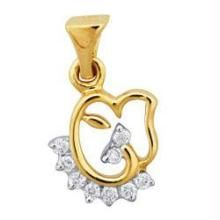 Avsar Real Gold Diamond Traditional Fancy Pendant