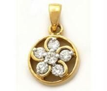 Avsar Real Gold Diamond Nakshatra Pendant Avp041