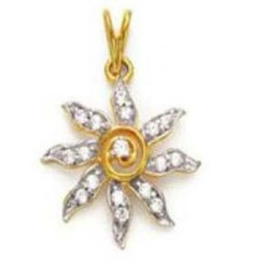 Avsar Real Gold & Diamond Bright Sun Pendants