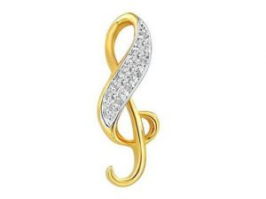 Avsar Real Gold And Diamond Fashion Art Pendant