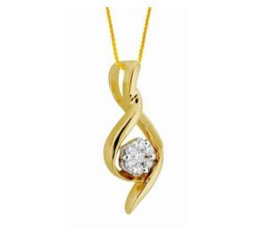 Avsar Real Gold And Diamond Simple Curve Shape Wit