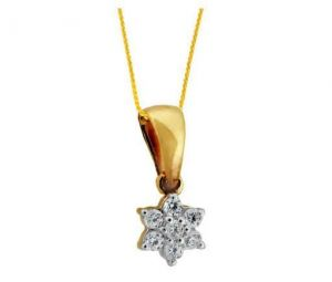 Avsar Real Gold And Diamond Dangling Star