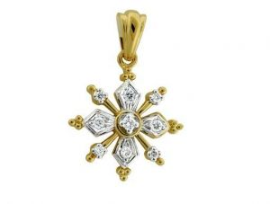 Avsar Real Gold And Diamond Fancy Flower Shape