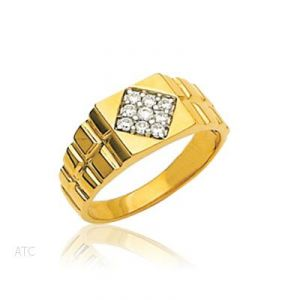 Avsar Real Gold And Diamond Rolex-look Gents Ring