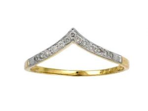 Avsar Real Gold And Diamond Mount Shape Ring