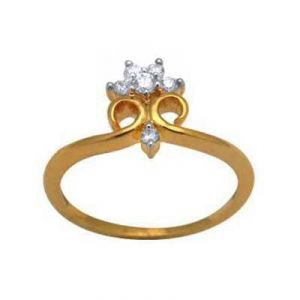 Flower Crown Shape Diamond Ring Avr107