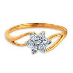 Beautiful Flower Shape Diamond Ring Avr112
