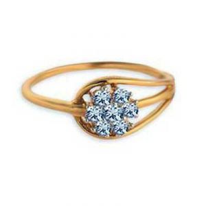 Flower On Wassel Shape Diamond Ring Avr115