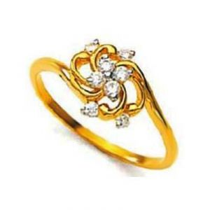 Fancy Swirl Flower Shape Diamond Ring Avr116