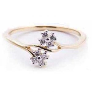 Up Down Flower Shape Diamond Ring Avr118