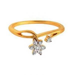 Dangling Sky Star Shape Diamond Ring Avr119