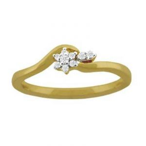 Simple Flower Look Diamond Ring Avr124