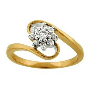 Jagdamba,Avsar,Lime,Kiara,Hoop,Estoss,Parineeta Gold Jewellery - BLOSSOM FLOWER DIAMOND RING AVR125