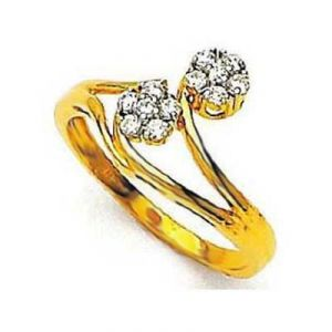 Twested Flower Shape Diamond Ring Avr131