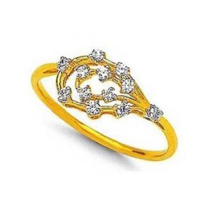 Flower Bufae Shape Diamond Ring Avr132