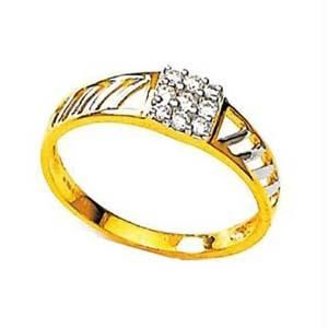 Avsar Real Gold And Diamond Simple Ring Avr136