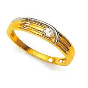 Avsar Real Gold And Diamond Solitaire Ring Avr137