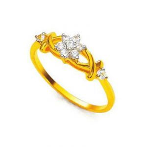 Avsar Real Gold And Diamond Simple Ring Avr139