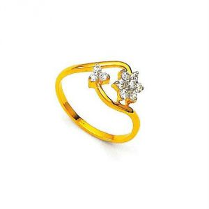 Avsar Real Gold And Diamond Chic Ring Avr140