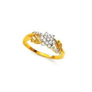 Avsar Real Gold And Diamond Lovely Ring Avr142