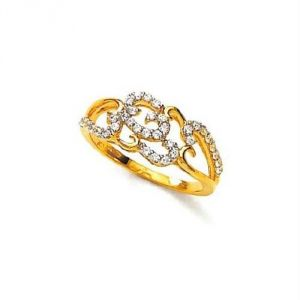 Avsar Real Gold And Diamond Ring Avr143