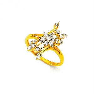 Avsar Real Gold And Diamond Pretty Ring Avr144