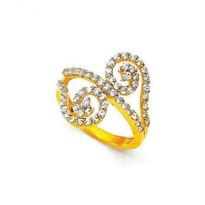 Avsar,Unimod,Lime,Clovia,Soie,Shonaya,Motorola Women's Clothing - Avsar Real Gold And Diamond Amazing RING AVR145