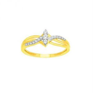 Avsar Real Gold And Diamond Classic Ring Avr154