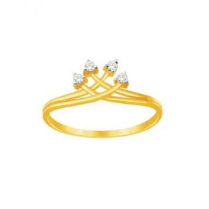 Avsar Real Gold And Diamond Valentine Ring Avr15