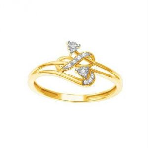 Avsar Real Gold And Diamond Trendy Ring Avr158