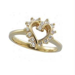 Avsar Real Gold And Diamond Ring Avr163
