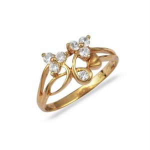 Avsar Real Gold And Diamond Simple Ring Avr164